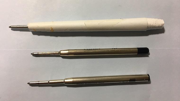 モンブランの紙製ボールペン