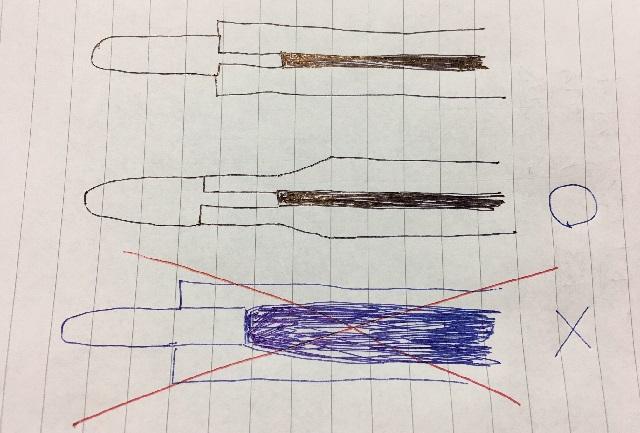 ボールペン替芯の構造