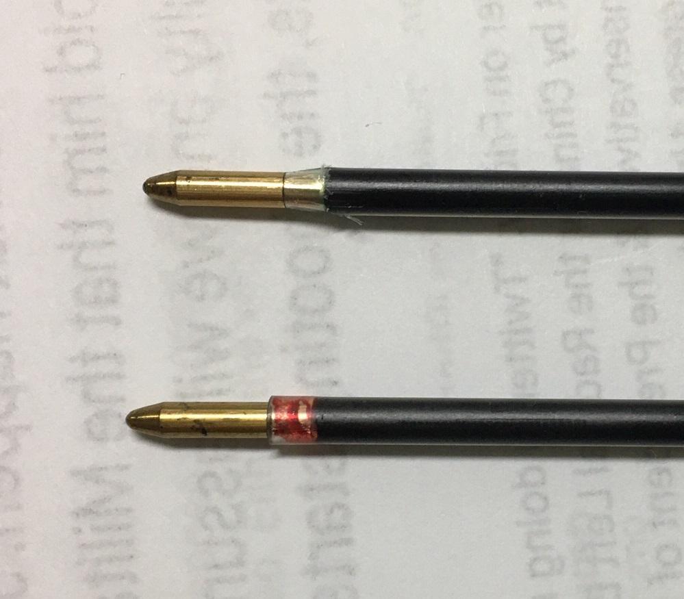 高級ボールペンにBic替芯